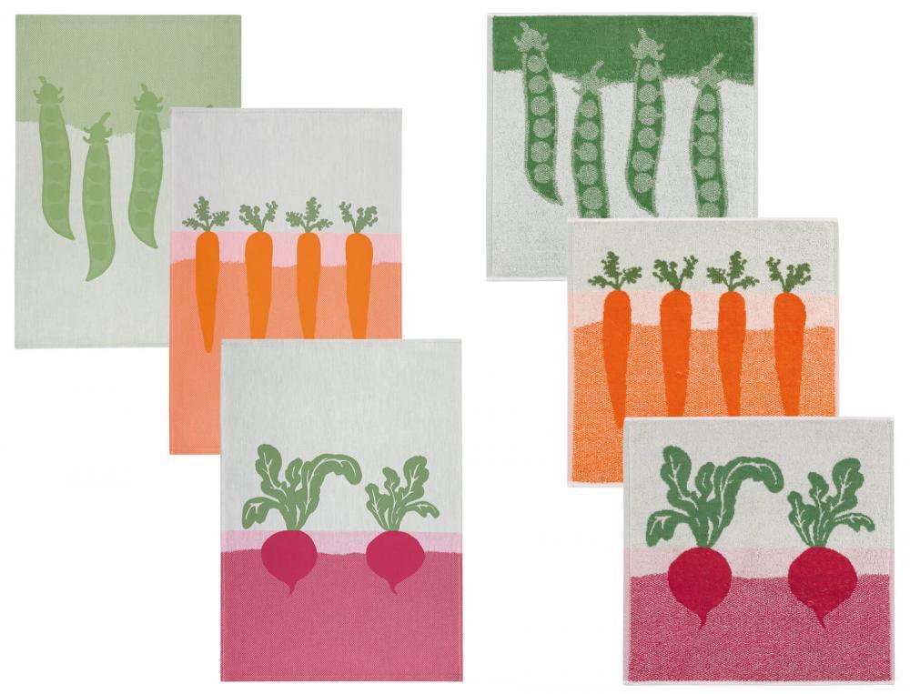 Torchon et essuie-mains Petits légumes