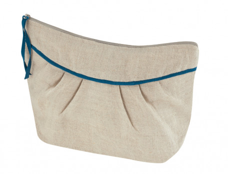 Trousse de toilette 100% lin Bouquet d'émotions