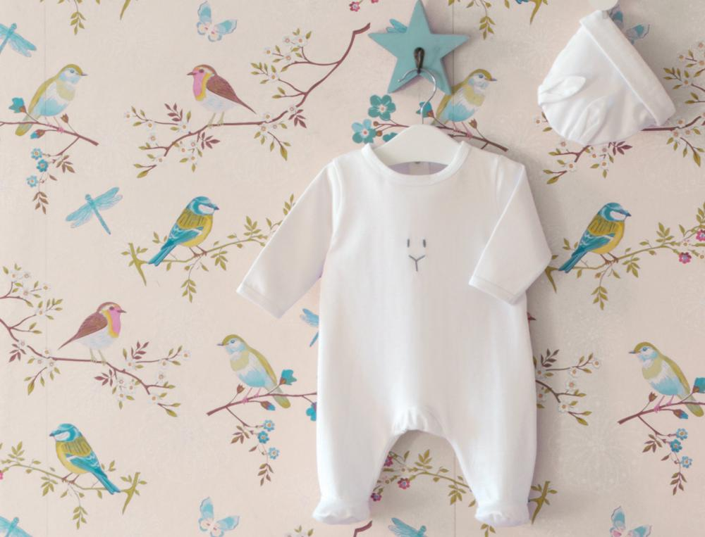Vêtement bébé pyjama, gigoteuse Lapin des villes
