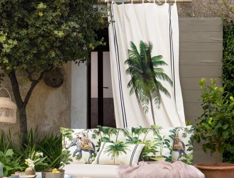 Vorhang bedruckt Kenia Baumwolle Linvosges
