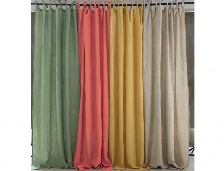Vorhang Erdfarben Leinen Linvosges