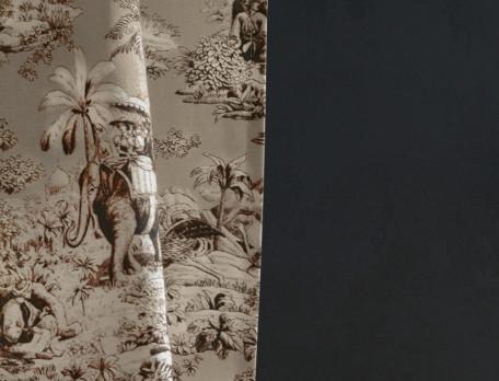 Vorhang Goldene Safari Baumwolle Linvosges