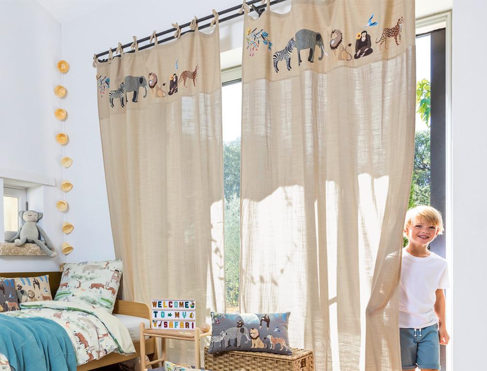 Vorhang Kleine Safari Baumwolle Linvosges