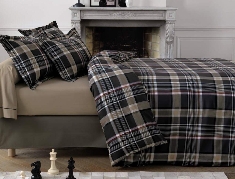 linge de lit z bra noir linvosges. Black Bedroom Furniture Sets. Home Design Ideas
