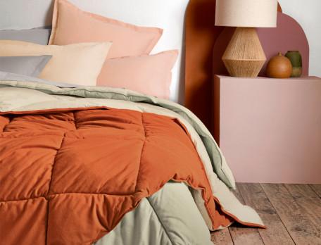 Zweifarbige Flanell-Decke Linvosges
