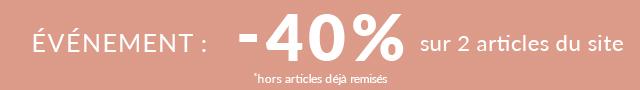 Linvosges : -40% sur 2 articles du site