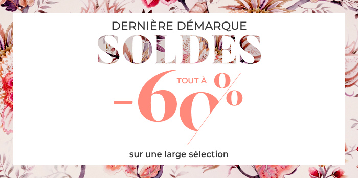 Soldes Vêtements : Tout à -60%