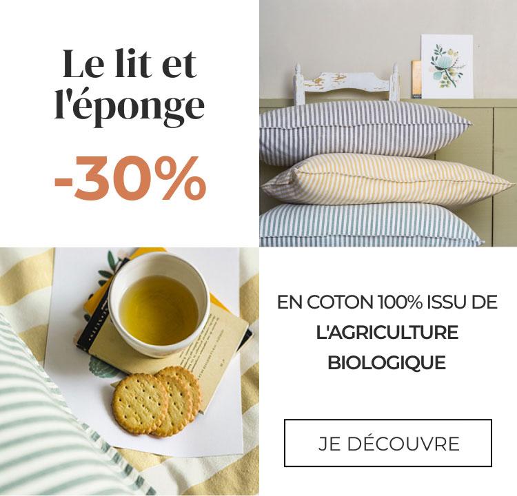 Linvosges :  le lit et l'éponge certifiés GOTS !