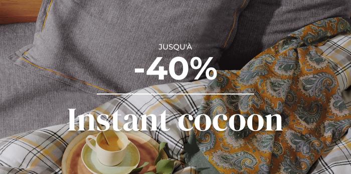 Jusqu'à -40% sur le linge de maison cocooning !