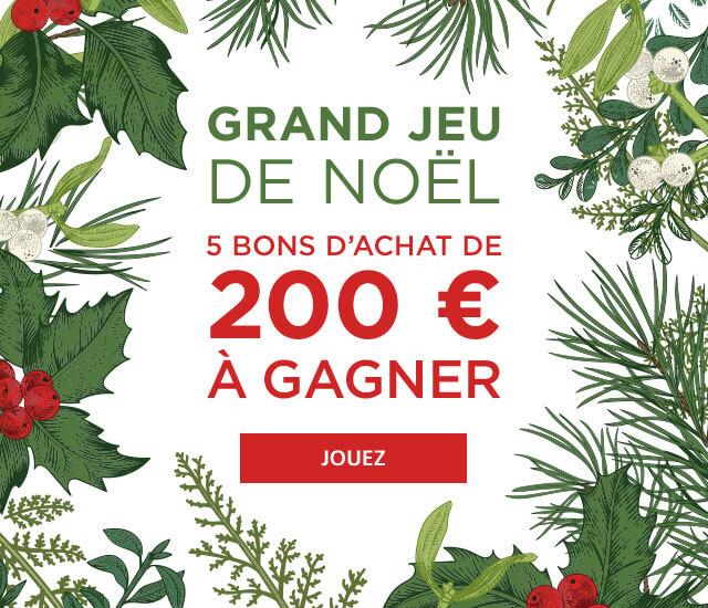 Grand Jeu de Noël : gagnez des bons d'achat Linvosges