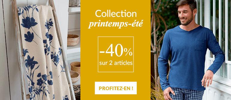 Linge de maison Linvosges : -40% sur 2 articles du Printemps-été