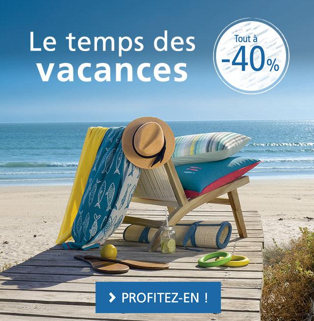 Le temps des vacances : tout à -40%