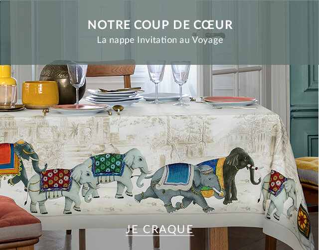 Coup de cœur : La nappe Invitation au Voyage