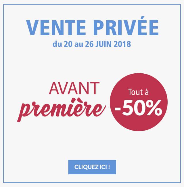 Vente privée avant-première : tout à -50%