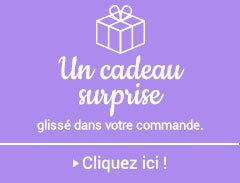 Votre cadeau surprise glissé dans votre commande