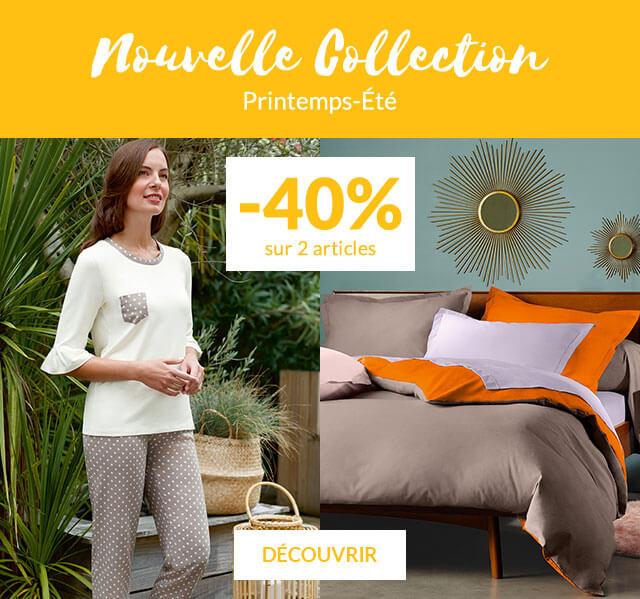Linge de maison Linvosges : promotion sur la nouvelle collection -40% sur 2 articles
