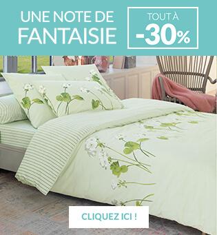 Linge de lit fantaisie par Linvosges en promotion