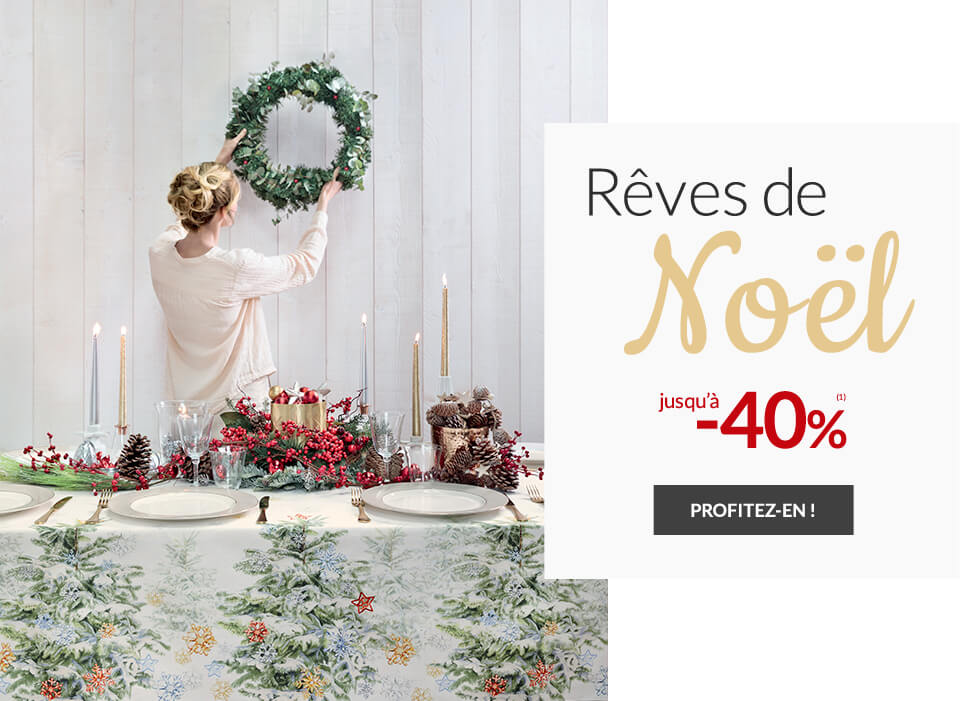 Linge de maison Linvosges : Rêves de Noël jusqu'à -40%