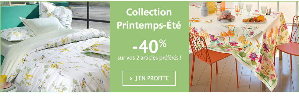 Collection printempts-été 2017 : -40% sur vos 2 articles préférés