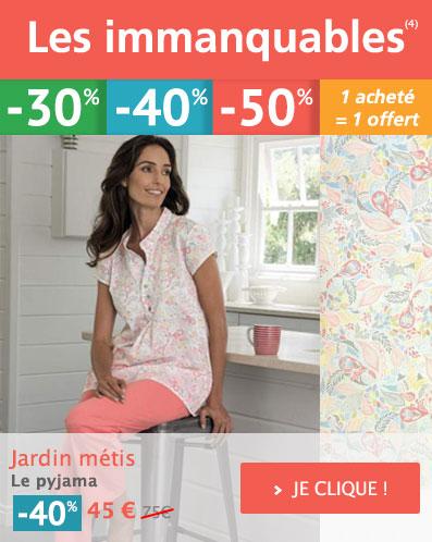 IMMANQUABE : Jardin métis Pyjama Votre Promotion à -40% !