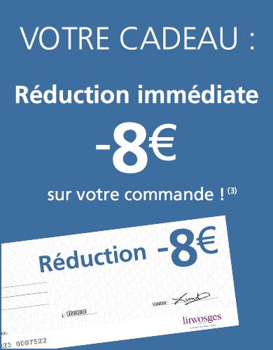 VOTRE CADEAU : un chèque de 8€ !