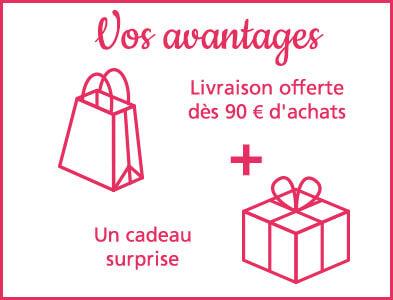 Un cadeau surprise offert avec votre commande Linvosges