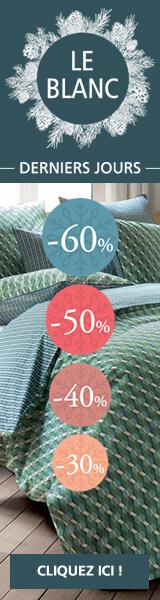 Blanc linge de maison Linvosges : promotion, rabais, réduction jusqu'à -60%