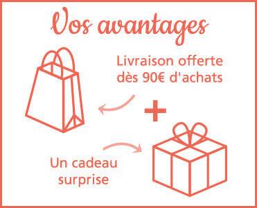 Livraison offerte* et un cadeau surprise