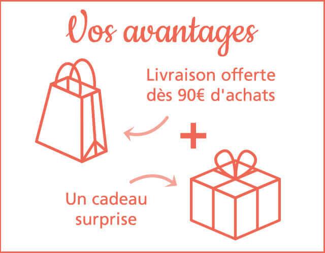 Livraison offerte dès 10 € d'achats chez Linvosges