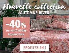 Nouvelle collection Automne-Hiver : -40% sur vos 2 articles les plus chers