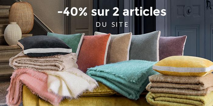 -40% sur 2 articles du site