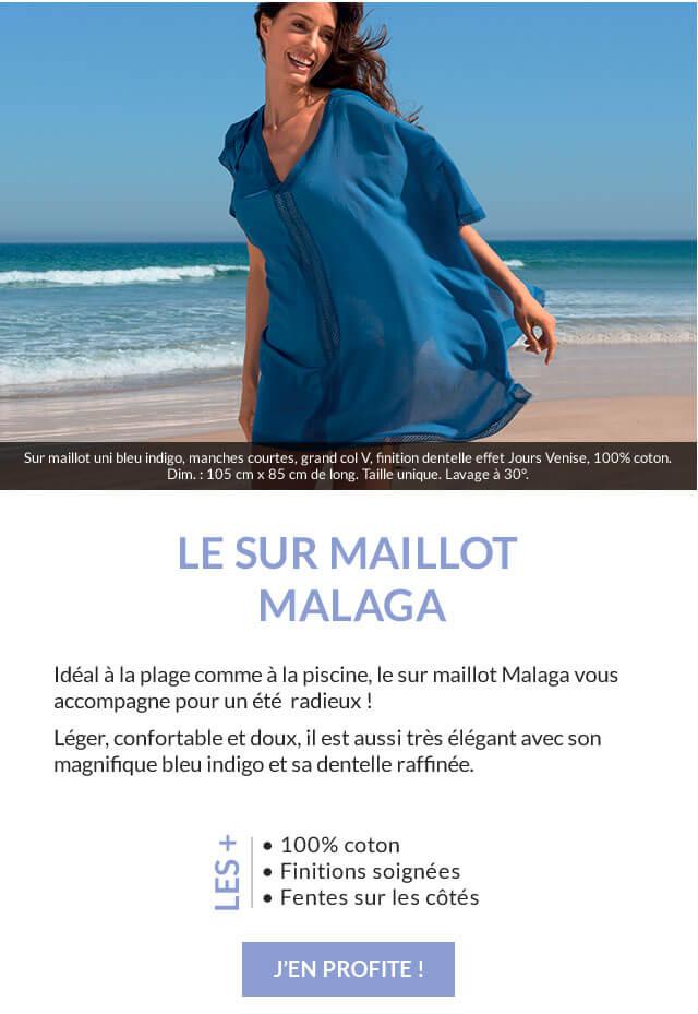 Votre cadeau Linvosges : le sur maillot Malaga ou un cadeau surprise