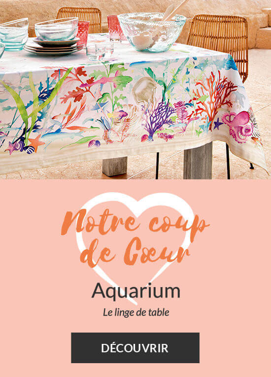 Notre coup de cœur linge de maison : la nappe Aquarium