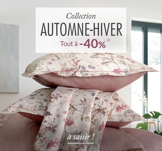 Linge de maison Linvosges : collection automne-hiver à -40%