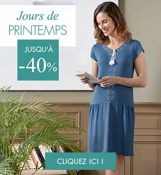Vêtements d'intérieurs par Linvosges : chemise de nuit, pyjama.. en promotion