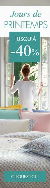 La sélection linge de maison pour le printemps par Linvosges en promotion et réduction