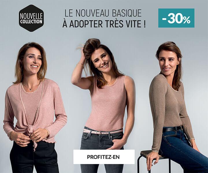 Homewear et vêtement d'interieur Linvosges : -30% sur la nouveauté basique
