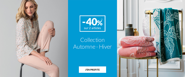 Linge de maison Linvosges : collection automne-hiver en promotion