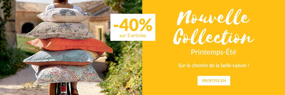 Nouvelle collection Printemps-été linge de maison Linvosges -40%