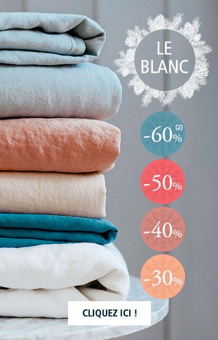 Le Blanc par Linvosges : jusqu'à -60% sur la collection Linge de maison