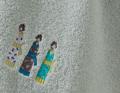 Frottee Set Kimonos hellgrau hellgrau