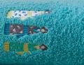 Frottee-Set Kimonos blaugrün blaugrün