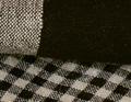 Carreaux de lin noir