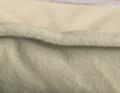 Zweifarbige Flanell-Decke salbei/beige