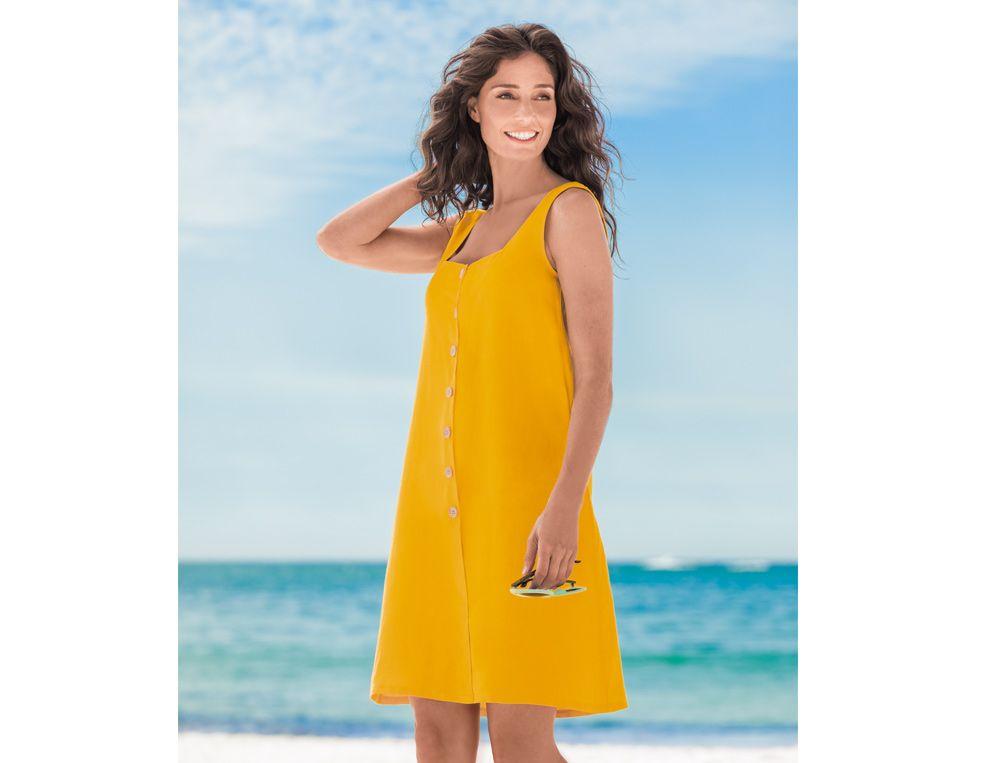 Robe de plage 100% lin Cap Corse