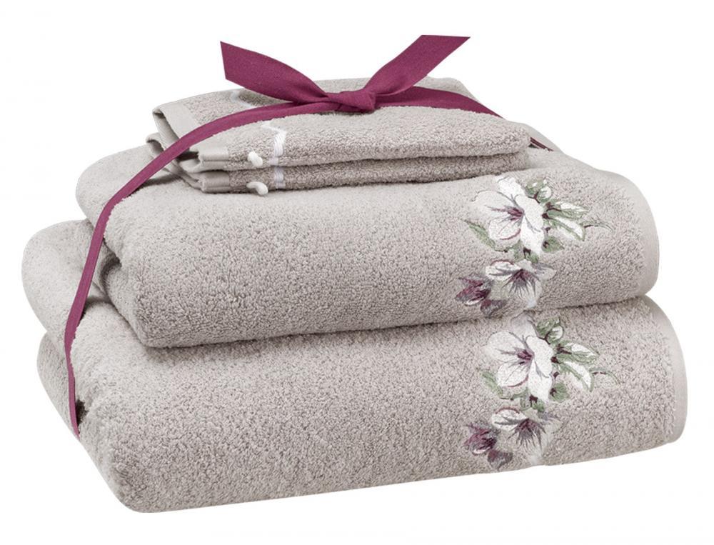 Pack Linge de bain brodé Les magnolias