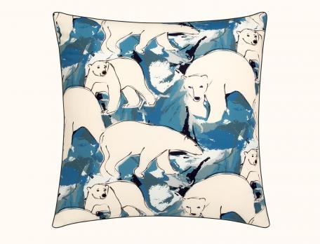 Drap imprimé ours 1 ou 2 personnes Groenland - Linvoges