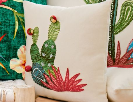 Kissen Kaktus Regenwald Baumwolle Linvosges