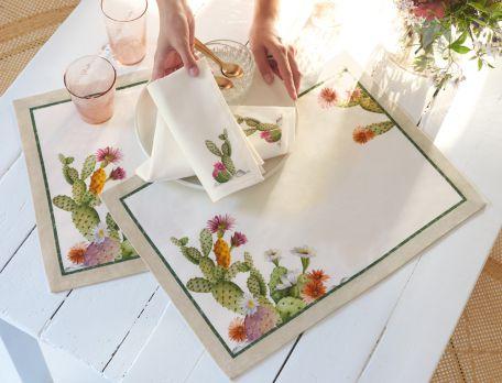 Tischwäsche Fiesta Mexicana Baumwolle Linvosges