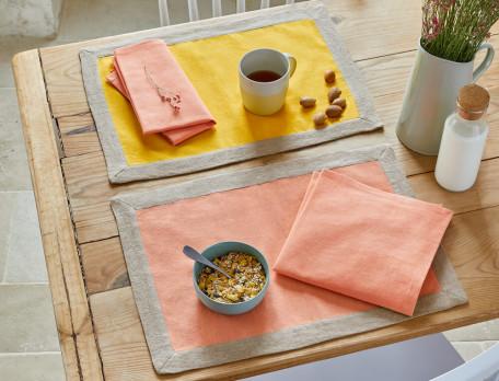 Tischwäsche Fruchtbonbons Leinen Linvosges